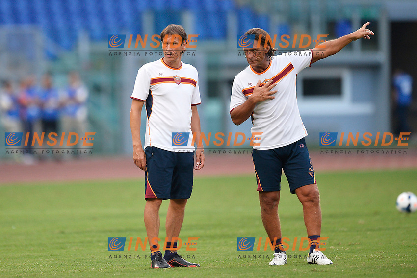 Rudi Garcia, Frederic Bompard <br /> Roma 21/8/2013 Stadio Olimpico<br /> Football Calcio <br /> AS Roma Open Day<br /> Foto Andrea Staccioli Insidefoto