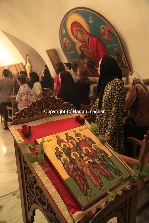 Israel, Tiberias, Greek Orthodox Church of the Twelve Apostles on the day of the Twelve Apostles.