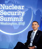 United States President Barack Obama holds bilateral meeting with President Jacob Zuma of South Africa (not pictured) at the Blair House during the Nuclear Security Summit, Sunday, April 11, 2010 in Washington, DC. .Credit: Olivier Douliery / Pool via CNP