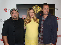 LAS VEGAS, NV - March 27: Frank Coraci, Drew Barrymore and Adam Sandler pictured arriving at Warner Broters Presentation at Cinemacon 2014 at Caesars Palace in Las Vegas, NV on March 27, 2014. © Kabik/ Starlitepics