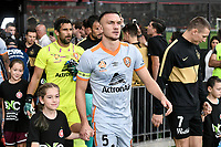 1st January 2020; Bankwest Stadium, Parramatta, New South Wales, Australia; Australian A League football, Western Sydney Wanderers versus Brisbane Roar; Tom Aldred of Brisbane Roar leads his team out onto the pitch - Editorial Use