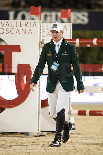 29th September 2017, Real Club de Polo de Barcelona, Barcelona, Spain; Longines FEI Nations Cup, Jumping Final; SWEETNAM Shane (IRL) before the final of Nations Cup