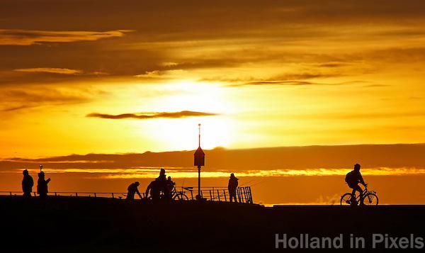 Nederland Den Haag. 2015 12 30.  Havenhoofd bij Scheveningen