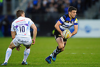 George Ford of Bath Rugby in possession. Aviva Premiership match, between Bath Rugby and Exeter Chiefs on December 31, 2016 at the Recreation Ground in Bath, England. Photo by: Patrick Khachfe / Onside Images