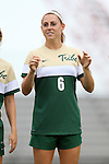 30 August 2015: William & Mary's Clara Logsdon. The Duke University Blue Devils hosted the William & Mary University Tribe at Koskinen Stadium in Durham, NC in a 2015 NCAA Division I Women's Soccer game. Duke won the game 2-0.