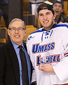 Steve Nazro, Tyler Wall (UML - 33) The University of Massachusetts-Lowell River Hawks defeated the Boston College Eagles 4-3 to win the 2017 Hockey East tournament at TD Garden on Saturday, March 18, 2017, in Boston, Massachusetts.