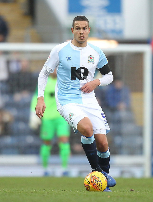 Blackburn Rovers Jack Rodwell<br /> <br /> Photographer Mick Walker/CameraSport<br /> <br /> The EFL Sky Bet Championship - Blackburn Rovers v Bristol City - Saturday 9th February 2019 - Ewood Park - Blackburn<br /> <br /> World Copyright © 2019 CameraSport. All rights reserved. 43 Linden Ave. Countesthorpe. Leicester. England. LE8 5PG - Tel: +44 (0) 116 277 4147 - admin@camerasport.com - www.camerasport.com