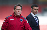 Ross County v St Johnstone&hellip;..30.04.16  Global Energy Stadium, Dingwall<br />Billy Dodds and Jim McIntyre<br />Picture by Graeme Hart.<br />Copyright Perthshire Picture Agency<br />Tel: 01738 623350  Mobile: 07990 594431