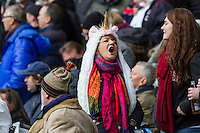Member of the crowd before the Anthems, England v Argentina in an Old Mutual Wealth Series, Autumn International match at Twickenham Stadium, London, England, on 26th November 2016. Full Time score 27-14