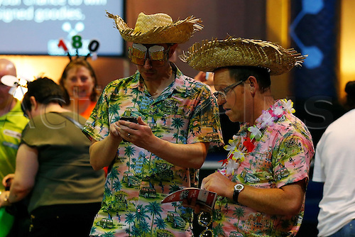 23.07.2016. Empress Ballroom, Blackpool, England. BetVictor World Matchplay Darts. Supporters in fancy dress