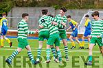 Listowel Celtic U15 team celebrate their winning goal at Mounthawk Park, Tralee on Saturday