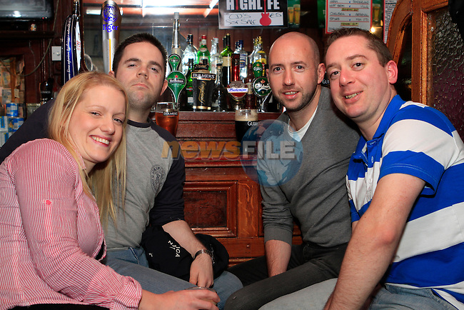 Catherine Cyle, Eoghan McEnaney, Alan Guildea and Conor Kennedy in McPhails...Photo NEWSFILE/Jenny Matthews..(Photo credit should read Jenny Matthews/NEWSFILE)