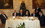 Palestinian President, Mahmoud Abbas (Abu Mazen) during his participation in the Christmas dinner for the Roman Orthodox in the West Bank City of Bethlehem on Jan. 6,2011.  photo by Thaer Ganaim