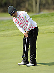 JEJU, SOUTH KOREA - APRIL 23:  Thongchai Jaidee of Thailand putts on the 13th green during the fog-delayed Round One of the Ballantine's Championship at Pinx Golf Club on April 23, 2010 in Jeju island, South Korea.  Photo by Victor Fraile / The Power of Sport Images
