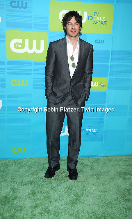 """Ian Somerhalder of """"The Vampire Diaries"""" posing for photographers at the CW Network 2010 Upfront on May 20, 2010 at Madison Square Garden in New York City."""
