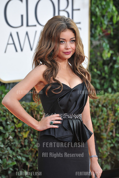 Sarah Hyland at the 70th Golden Globe Awards at the Beverly Hilton Hotel..January 13, 2013  Beverly Hills, CA.Picture: Paul Smith / Featureflash