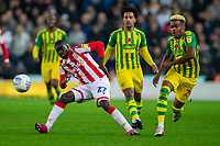 4th November 2019; Bet365 Stadium, Stoke, Staffordshire, England; English Championship Football, Stoke City versus West Bromwich Albion; Badou Ndiaye of Stoke City crosses the ball - Strictly Editorial Use Only. No use with unauthorized audio, video, data, fixture lists, club/league logos or 'live' services. Online in-match use limited to 120 images, no video emulation. No use in betting, games or single club/league/player publications