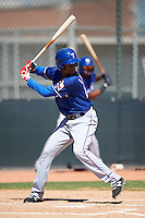 Texas Rangers Welin Liriano (20) during an Instructional League game against the Cincinnati Reds on October 4, 2016 at the Surprise Stadium Complex in Surprise, Arizona.  (Mike Janes/Four Seam Images)