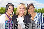 Leanne O'Riordan, Eileen O'Riordan and Breda Fleming Gneeveguilla enjoying the sunshine at the Killarney Races on Sunday.