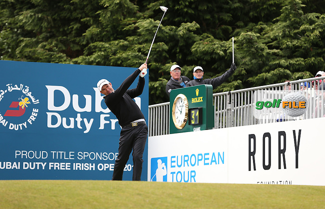 Padraig Harrington (IRL) begins Round Three of the 2015 Dubai Duty Free Irish Open Hosted by The Rory Foundation at Royal County Down Golf Club, Newcastle County Down, Northern Ireland. 30/05/2015. Picture David Lloyd | www.golffile.ie