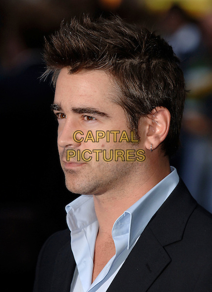 "COLIN FARRELL.""Miami Vice"" European film premiere.Odeon cinema Leicester Square.27th Junly 2006 London England..Ref: PL.portrait headshot earring.www.capitalpictures.com.sales@capitalpictures.com.©Phil Loftus/Capital Pictures"