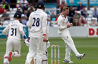 Simon Harmer of Essex celebrates taking the wicket of Jonathan Tattersall during Essex CCC vs Yorkshire CCC, Specsavers County Championship Division 1 Cricket at The Cloudfm County Ground on 9th July 2019