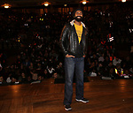 Nik Walker on stage during the #EduHam at the Richard Rodgers Theatre on November 15, 2017 in New York City.