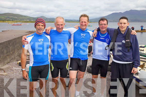 Templenoe All Ireland winners of the Master Men's Final in Waterville on Saturday pictured l-r; Craig Deventer, Denis Crowley, Harry Topham, Donal O'Sullivan & Martin Reilly(Cox).