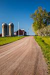 Farmland on the Lake Champlain Islands in South Hero, VT