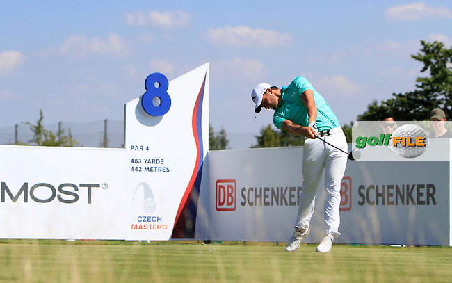 Haydn Porteous (RSA) on the 8th tee during Round 2 of the D&amp;D Real Czech Masters 2016 at the Albatross Golf Club, Prague on Friday 19th August 2016.<br /> Picture:  Thos Caffrey / www.golffile.ie<br /> <br /> All photos usage must carry mandatory copyright credit   (&copy; Golffile | Thos Caffrey)
