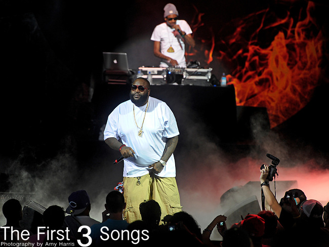 Rick Ross performs at Riverbend Music Center in Cincinnati, Ohio on August 12, 2011.