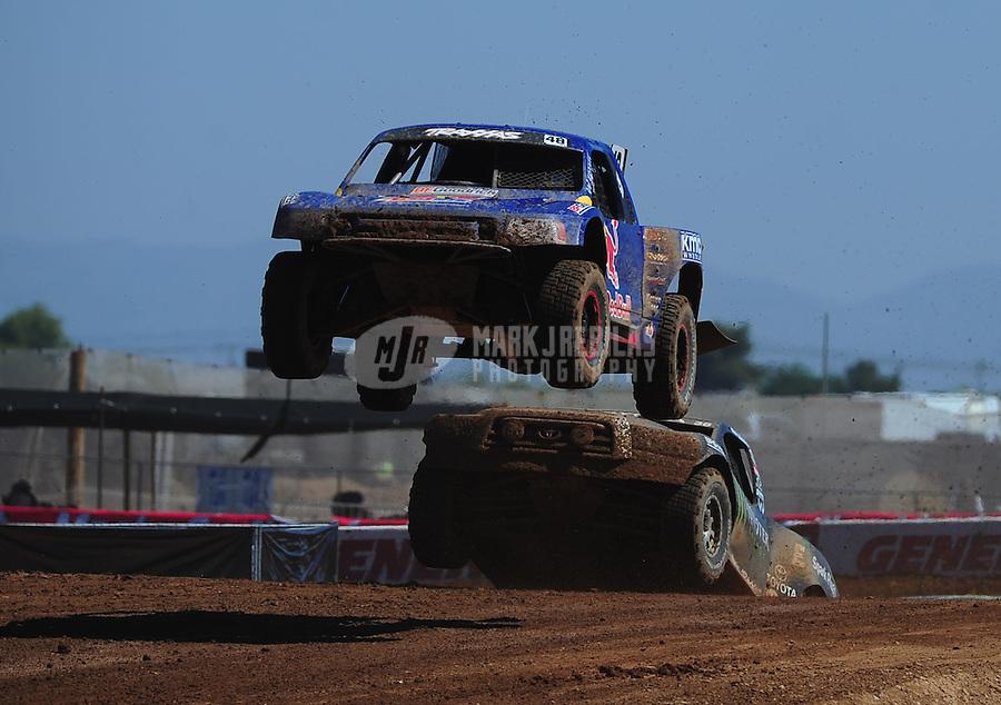 Apr 16, 2011; Surprise, AZ USA; LOORRS driver Ricky Johnson (48) during round 3 at Speedworld Off Road Park. Mandatory Credit: Mark J. Rebilas-.