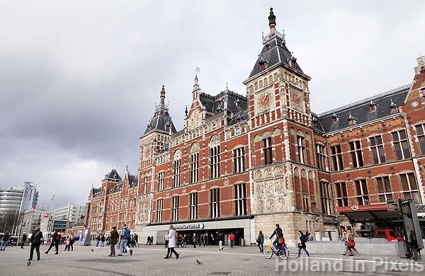 Nederland Amsterdam januari 2018. Centraal Station. Foto Berlinda van Dam / Hollandse hoogte