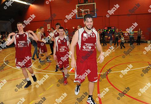 2012-03-24 / Basketbal / seizoen 2011-2012 / Zuiderkempen Hulshout viert de titel..Foto: Mpics.be