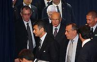 Conferenza per la presentazione del nuovo centro Tigen  di Telethon<br /> nella foto giorgio Napolitano
