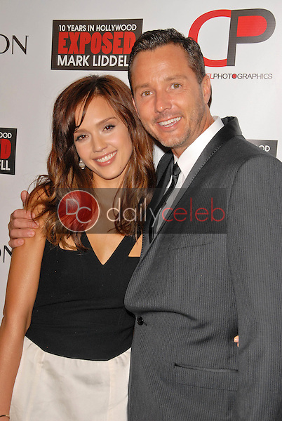 """Jessica Alba and Mark Liddell<br /> at the debut of Mark Liddell's """"Exposed: 10 Tears In Hollywood,""""  Lloyd Wright's Sowden House, Los Angeles, CA. 11-09-09<br /> David Edwards/Dailyceleb.com 818-249-4998"""