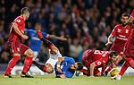 23.08.2018 Rangers v Ufa: Daniel Candeias felled in the box