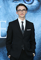 "LOS ANGELES, CA July 12- Isaac Hempstead Wright,  At Premiere Of HBO's ""Game Of Thrones"" Season 7 at The Walt Disney Concert Hall, California on July 12, 2017. Credit: Faye Sadou/MediaPunch"