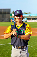 Beloit Snappers outielder Austin Beck (22) poses for a photo prior to a Midwest League game against the Wisconsin Timber Rattlers on May 17, 2018 at Fox Cities Stadium in Appleton, Wisconsin. Beloit defeated Wisconsin 8-7. (Brad Krause/Four Seam Images)