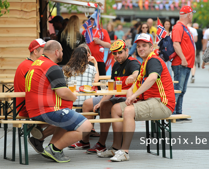 20170720 - BREDA , NETHERLANDS : illustration of fans pictured during the female soccer game between Norway and Belgium  , the second game in group A at the Women's Euro 2017 , European Championship in The Netherlands 2017 , Thursday 20 th June 2017 at Stadion Rat Verlegh in Breda , The Netherlands PHOTO SPORTPIX.BE | DIRK VUYLSTEKE
