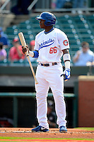 Chattanooga Lookouts outfielder Yasiel Puig #66 during a game against the Birmingham Barons on April 17, 2013 at AT&T Field in Chattanooga, Tennessee.  Chattanooga defeated Birmingham 5-4.  (Mike Janes/Four Seam Images)