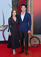 "LOS ANGELES, USA. August 27, 2019: Alex Shibutani & Maia Shibutani at the premiere of ""IT Chapter Two"" at the Regency Village Theatre.<br /> Picture: Paul Smith/Featureflash"