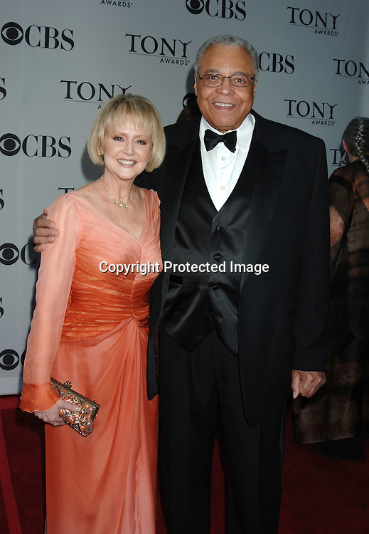 James Earl Jones and wife Celia..arriving at the 60th Annual Tony Awards on June11, 2006..at Radio City Music Hall. ..Robin Platzer, Twin Images