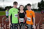 Jessie Brosnan, Betty Brosnan and Zach Brosnan at the Kingdom Come 10 miler and 5k race at Castleisland on Sunday