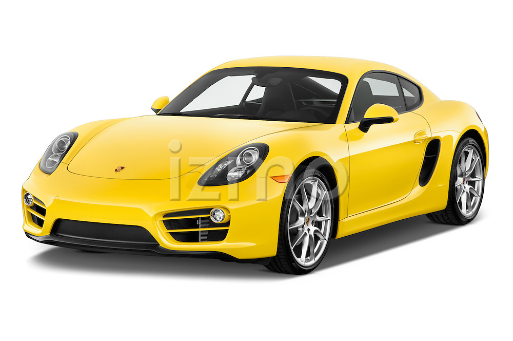 Front three quarter view of a 2014 Porsche Caymen Coupe