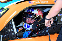 July 15, 2017 - Loudon, New Hampshire, U.S. - Clint Bowyer, Monster Energy NASCAR Cup Series driver of the Nature's Bakery / Feeding America Ford (14), sits in his car before the NASCAR Monster Energy Overton's 301 practice round held at the New Hampshire Motor Speedway in Loudon, New Hampshire. Larson placed first in the qualifier. Eric Canha/CSM