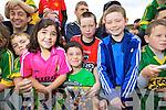Sarah O'Mahony (Kilcummin) Mark O'Mahony (Kilcummin) Colin Kerins (Cordal) and Liam O'Leary (Kilcummin)  at Kerry GAA family day at Fitzgerald Stadium on Saturday.