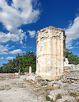 The Tower of the Winds (Aerides) also known as the Horologion of Kyrrhestos (1st c. B.C.) in the Roman Agora, Greece