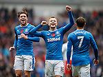 Andy Halliday celebrates his penalty goal with Josh Windass