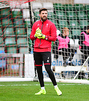 Lincoln City's Josh Vickers during the pre-match warm-up<br /> <br /> Photographer Andrew Vaughan/CameraSport<br /> <br /> The Emirates FA Cup Second Round - Lincoln City v Carlisle United - Saturday 1st December 2018 - Sincil Bank - Lincoln<br />  <br /> World Copyright © 2018 CameraSport. All rights reserved. 43 Linden Ave. Countesthorpe. Leicester. England. LE8 5PG - Tel: +44 (0) 116 277 4147 - admin@camerasport.com - www.camerasport.com